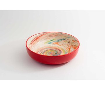 Salad Bowl Ceramic Aguas Red 27 cm