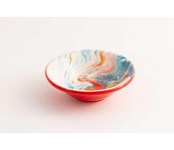 Tapas Dish Ceramic Aguas Red 11 cm