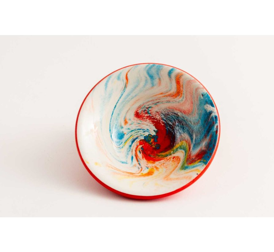 Tapas Dish Ceramic Aguas Red 11 cm