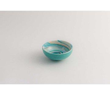 Tapas Dish Ceramic Aguas Turquoise 10 cm