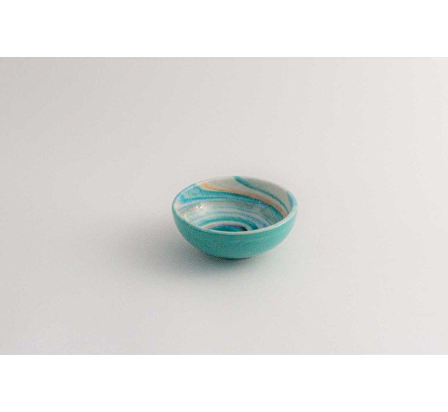 Tapasschaaltje Keramiek Aguas Turquoise 10 cm
