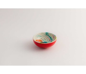 Tapas Dish Ceramic Aguas Red 10 cm