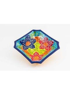 Schaal Vierkant Keramiek Canarias 25 cm