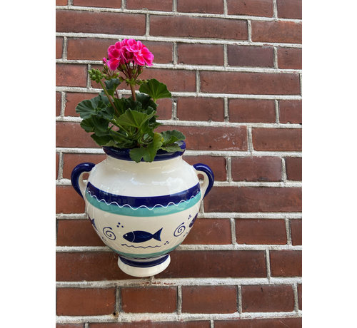 Hanging Flower Pot Peces Azul