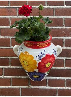 Hanging Flower Pot Tricolore Rojo
