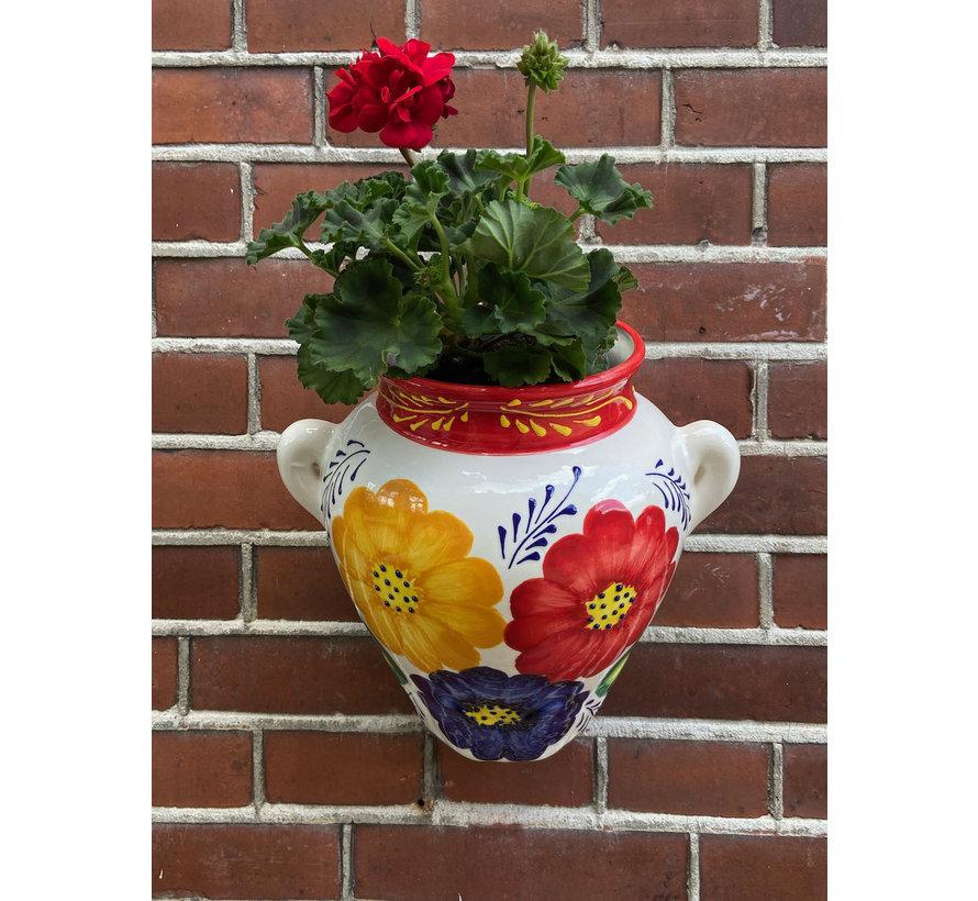 Hanging Flower Pot Flor Tricolore Rojo