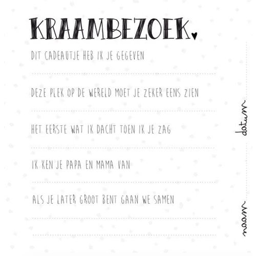 Kidooz Kidooz invulboek | Mijn kraambezoekboek original