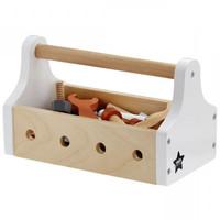 Kids Concept houten gereedschapskist | Wit
