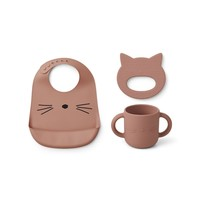 Liewood baby giftset Carol | Cat | Dark Rose