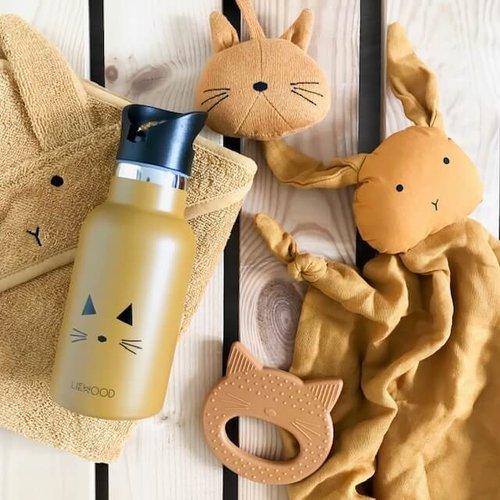 Liewood Liewood badcape Albert | Rabbit Mustard