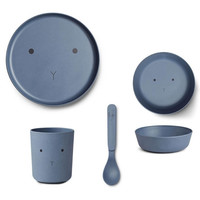 Liewood servies set | Rabbit Blue Wave
