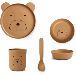Liewood Liewood servies set | Mr Bear Mustard