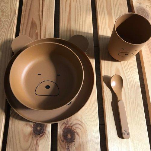 Liewood Liewood servies Bamboe set | Mr Bear Mustard