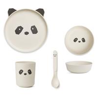 Liewood servies set | Panda Creme de la creme