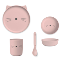 Liewood servies Bamboe set | Cat Rose