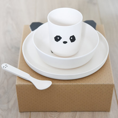 Liewood Liewood servies Bamboe set | Panda Creme de la creme