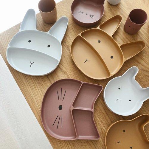 Liewood Liewood servies Jules Bamboo set | Rabbit Mustard