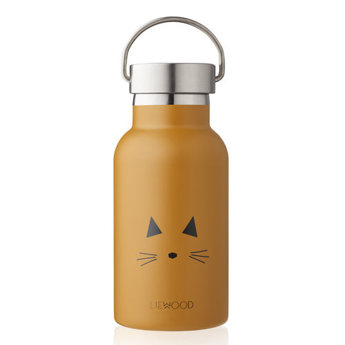 Liewood Liewood Drinkfles Anker   Cat Mustard