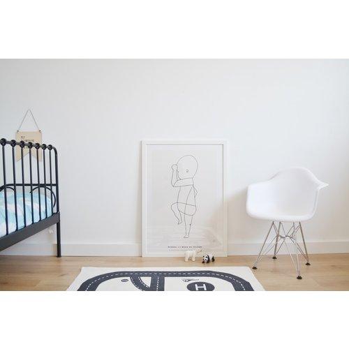 Eames kinderstoel Kinderstoel Eames junior | DAW zwart