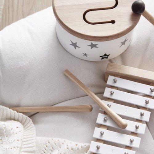 Kids Concept Kids Concept trommel mini | Wit grijs