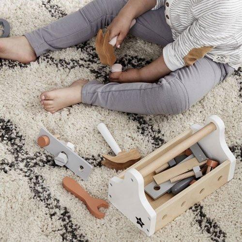 Kids Concept Kids Concept houten gereedschapskist | Wit