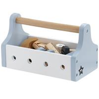 Kids Concept houten gereedschapskist | Licht blauw