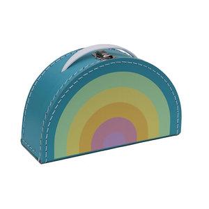Kidsboetiek Kidsboetiek koffertje regenboog   pastel