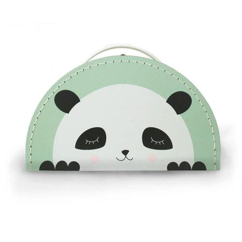 Kidsboetiek Kidsboetiek koffertje panda   Mint