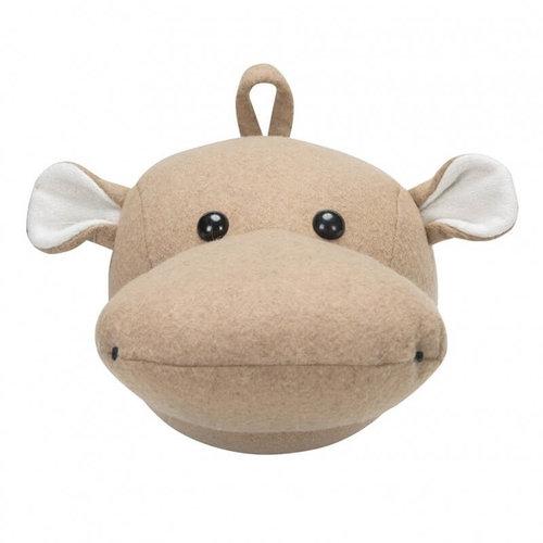 Kidsdepot Kidsdepot dierenkop hippo | Naturel