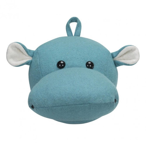 Kidsdepot Kidsdepot dierenkop hippo | Blauw