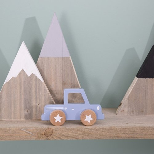 Little Dutch Little Dutch | Houten pick-up truck lichtblauw