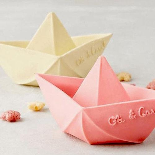 Oli & Carol Oli & Carol badspeeltje origamibootje | Geel