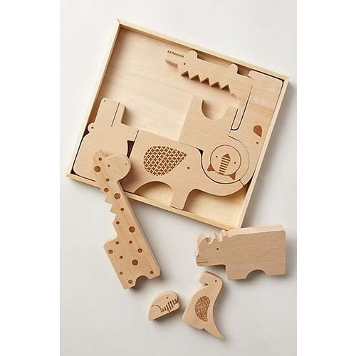 Petit Collage Petit Collage houten Safari puzzel
