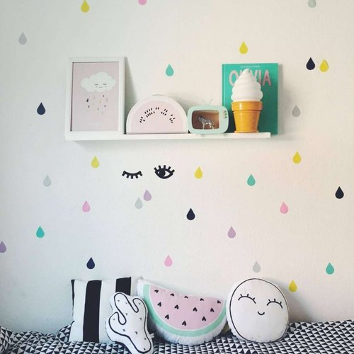 Poli & Oli Poli & Oli Muurstickers | Druppels Confetti