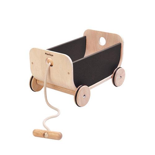 Plan Toys Plan Toys Trek & duw speelgoed Trekwagen | Zwart