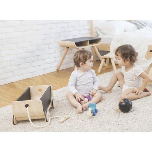 Plan Toys Plan Toys Trek & duw speelgoed Trekwagen   Zwart