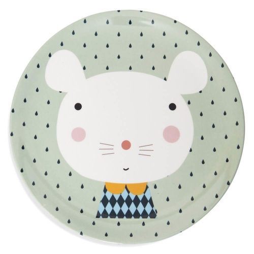 Petit Monkey Petit Monkey Kinderservies Bord Muis | Mint