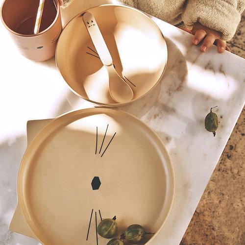 Liewood Liewood servies Bamboe set | Cat Terracotta