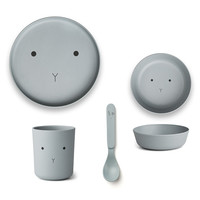 Liewood servies set | Rabbit Sea Blue