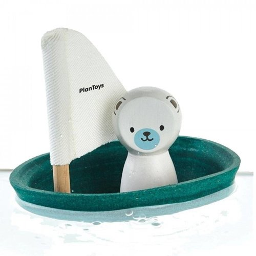 Plan Toys Plan Toys badspeelgoed | Zeilboot IJsbeer