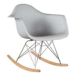 Eames kinderstoel Eames schommelstoel | RAR licht grijs