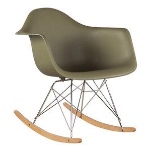 Eames kinderstoel Eames schommelstoel | RAR mos groen