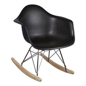 Eames kinderstoel Kinderstoel Eames schommelstoel RAR zwart