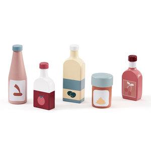 Kids Concept Kids Concept Houten speelset flessen (5st)