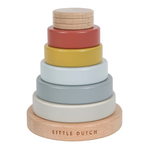 Little Dutch Little Dutch | Houten stapeltoren Pure & Nature