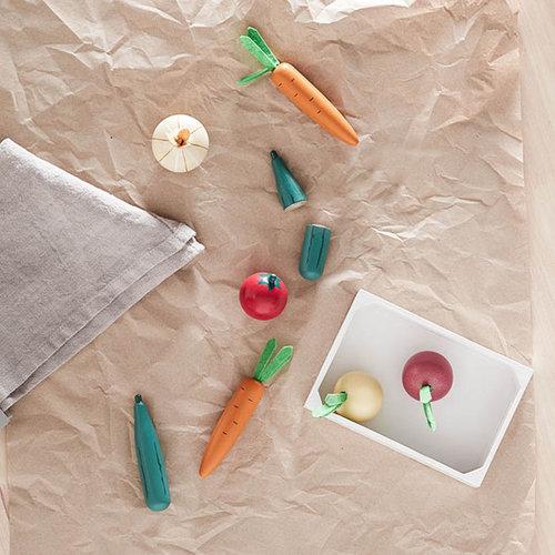 Kids Concept Kids Concept houten kistje met groente