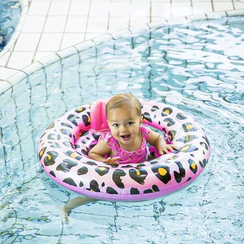 Swim Essentials Swim Essentials panterprint Baby float Rosé goud | 0-1 jaar