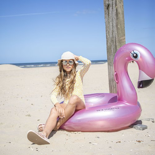 Swim Essentials Swim Essentials Opblaasbare Rosé Gouden Flamingo Zwemband Groot