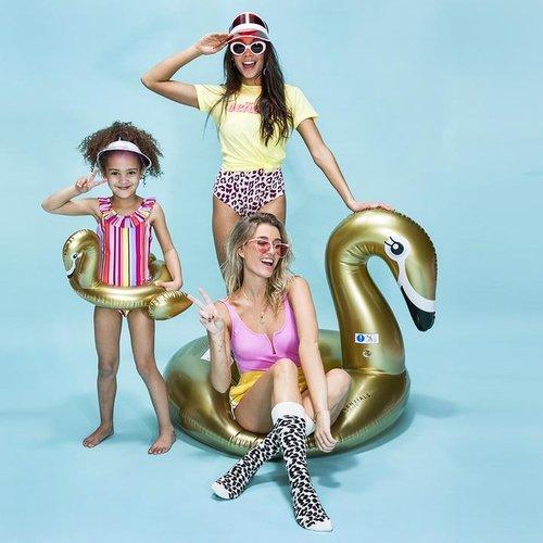 Swim Essentials Swim Essentials Opblaasbare Gouden Flamingo Zwemband