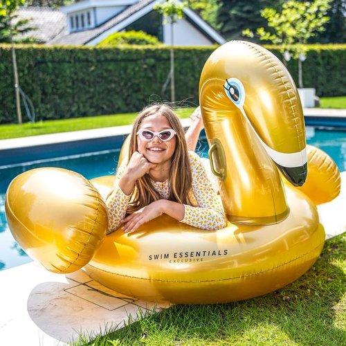 Swim Essentials Swim Essentials Luchtbed Zwaan Opblaasbaar Goud Groot XL